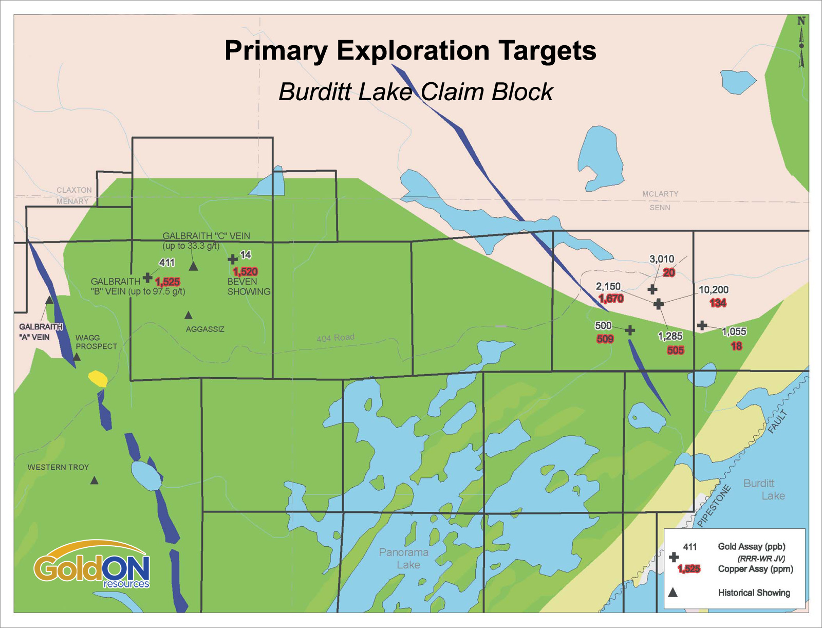 Primary Exploration Targets